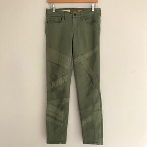 Anthropologie Pilcro Stet Green Moto Pants